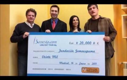 Gracias a vosotros, iBanesto dona 20.000€ a la Fundación Gomaespuma