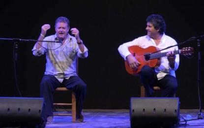 Juan Luis Cano cantando en el Festival Flamenco de Lo Ferro