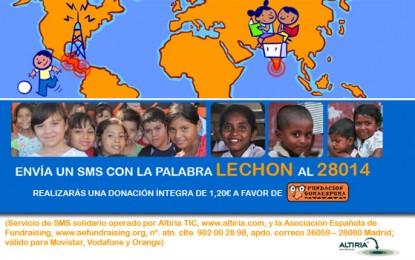 Colabora con Fundación Gomaespuma por tan sólo 1,20€