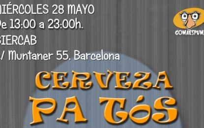 Vuelven las cañas solidarias de Fundación Gomaespuma en Barcelona