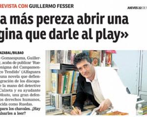 """""""Da más pereza abrir una página que darle al play"""", Guillermo Fesser en Qué Nervión"""