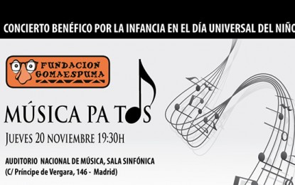 Gran concierto solidario el 20 de noviembre