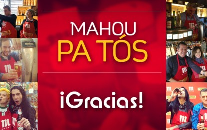 Éxito de las cañas solidarias en Mahou Pa Tós