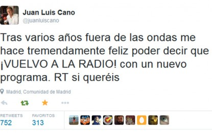 Juan Luis Cano vuelve a la radio