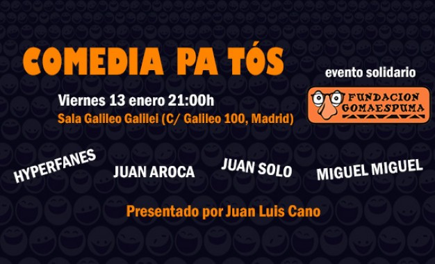 ¡Fundación Gomaespuma estrena el año con Comedia Pa' Tós!